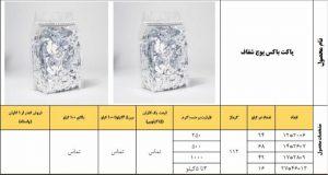 قیمت پاکت باکس پوچ شفاف