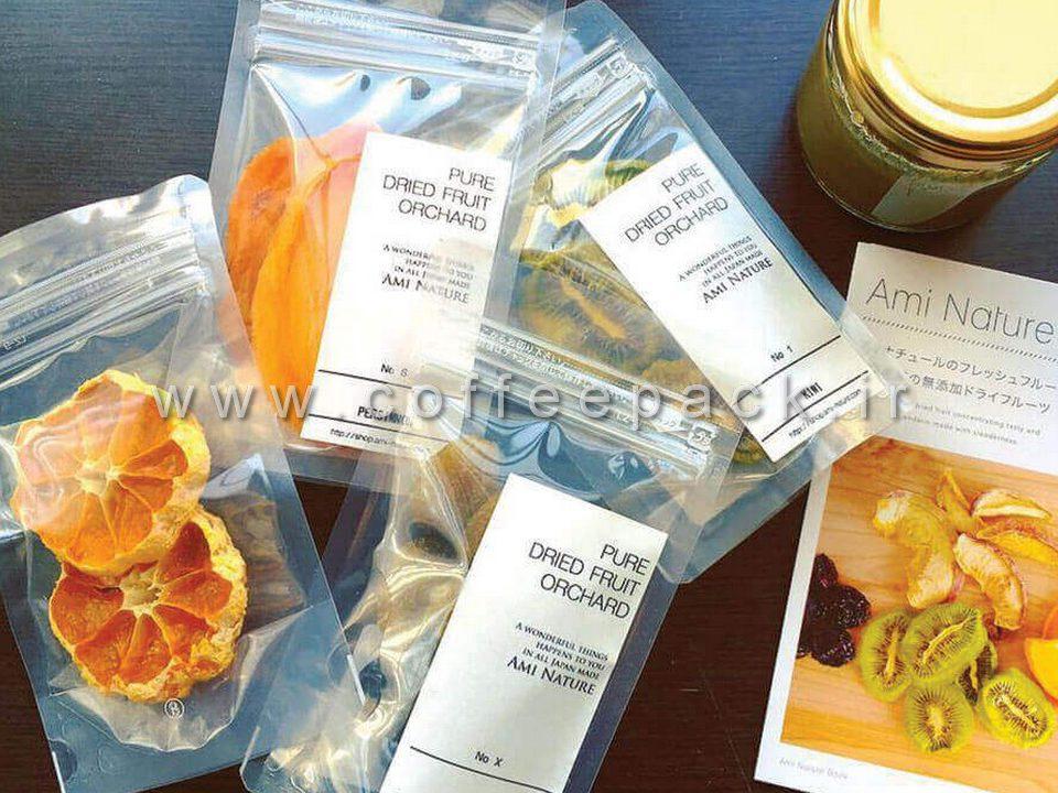 پاکت بسته بندی میوه خشک