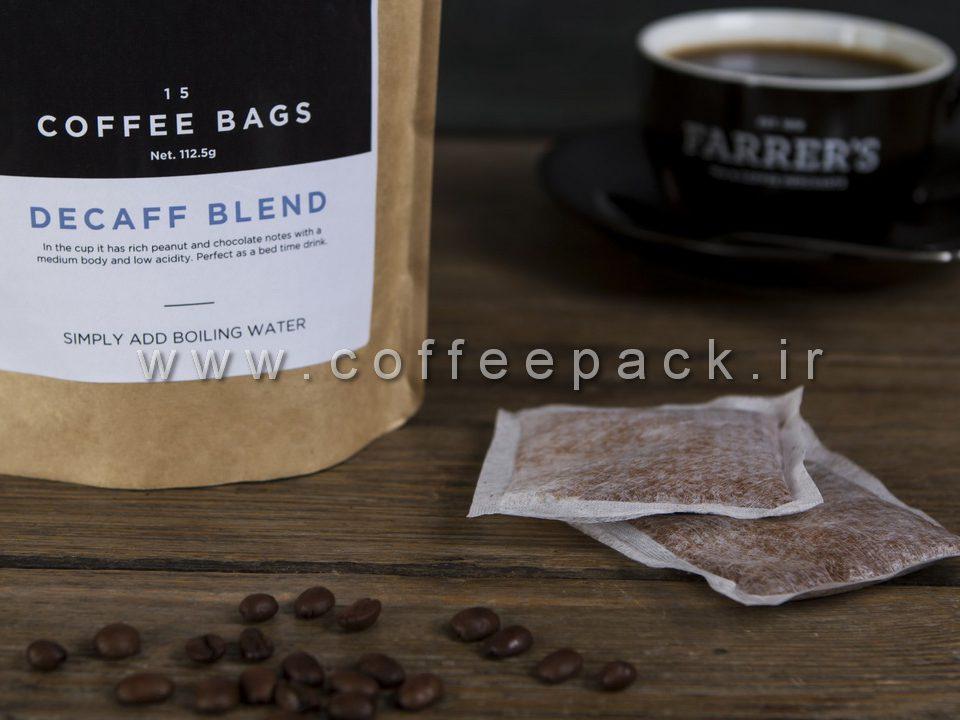 پاکت دو طرف کاست دار قهوه